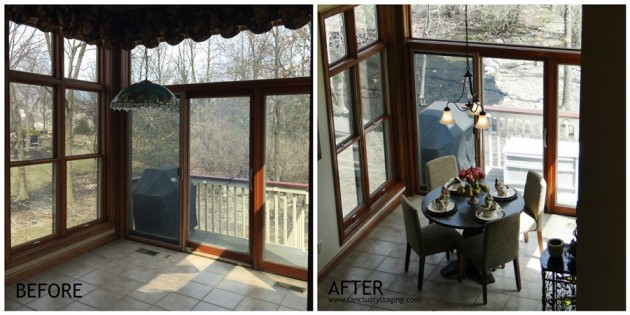resize Ashcroft dining nook before and after