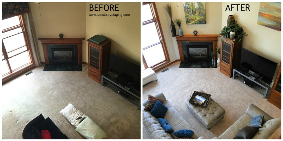 resize Ashcroft family room before after