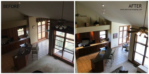 resize Ashcroft kitchen before and after